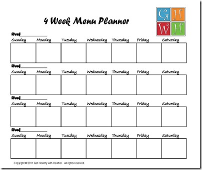 Had it with strict diets? 4 week meal plan