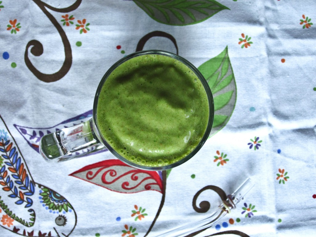 Almond Pear Green Smoothie