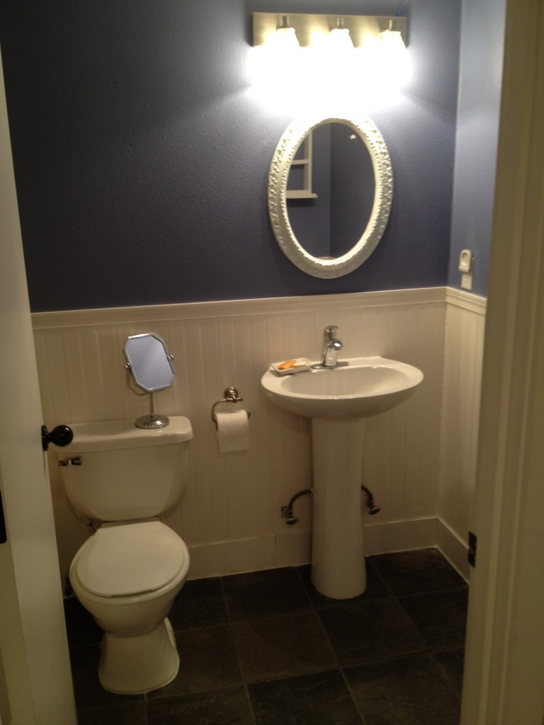 Downstairs bathroom remodel before after fit mama real food for Bathroom wall pictures