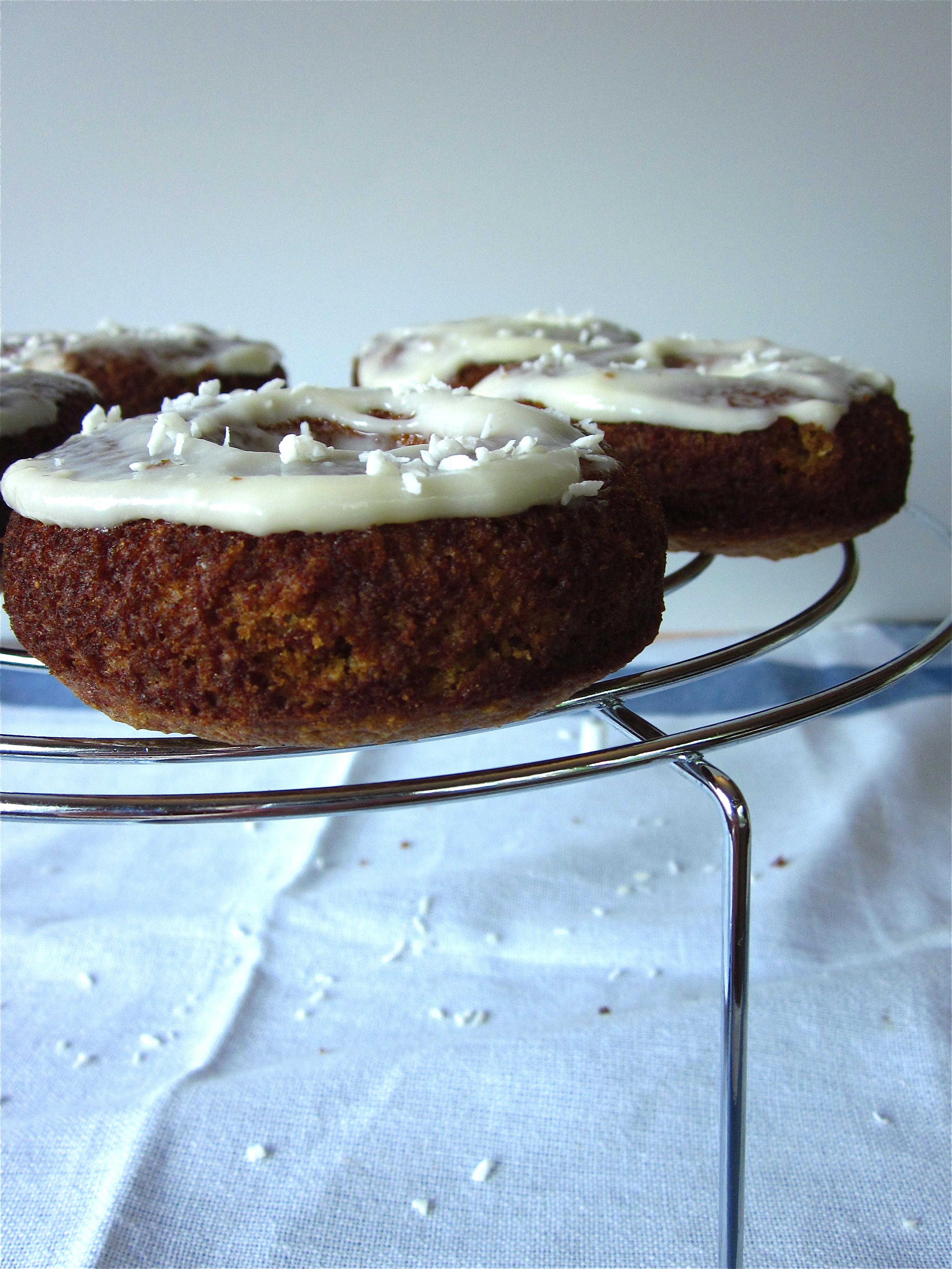 Carrot Cake Donuts With Honey Sweetened Cream Cheese