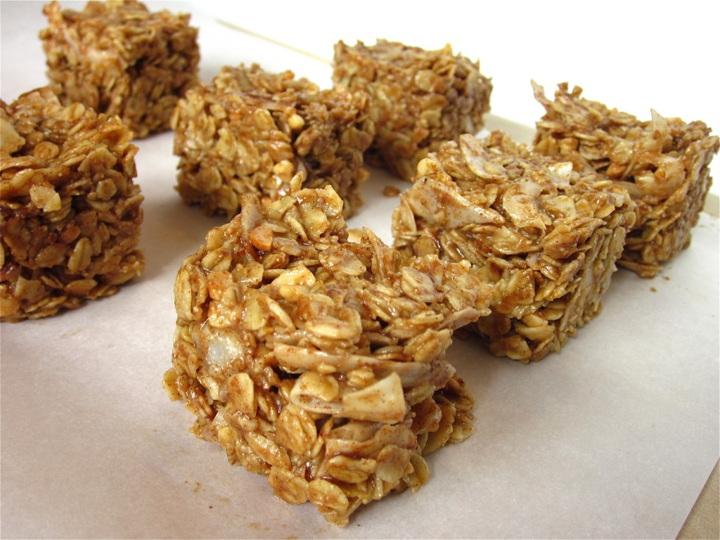 Peanut Butter Coconut No Bake Oat Bars Fit Mama Real Food