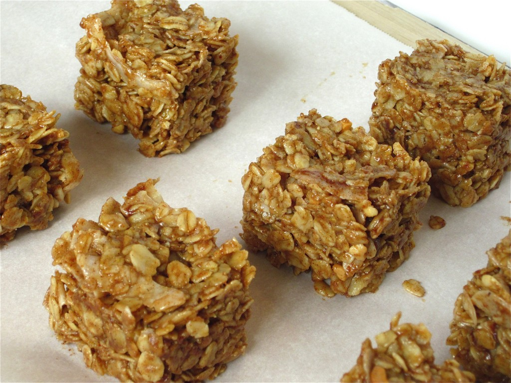 peanut butter coconut no bake oat bars - Fit Mama Real Food