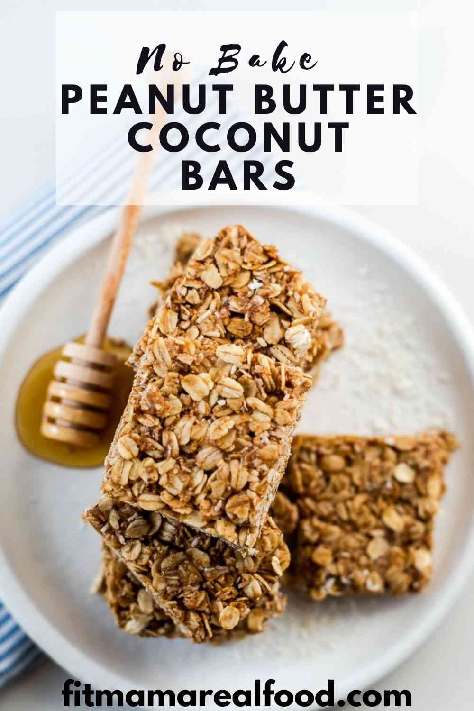 No Bake Peanut Butter Coconut Bars