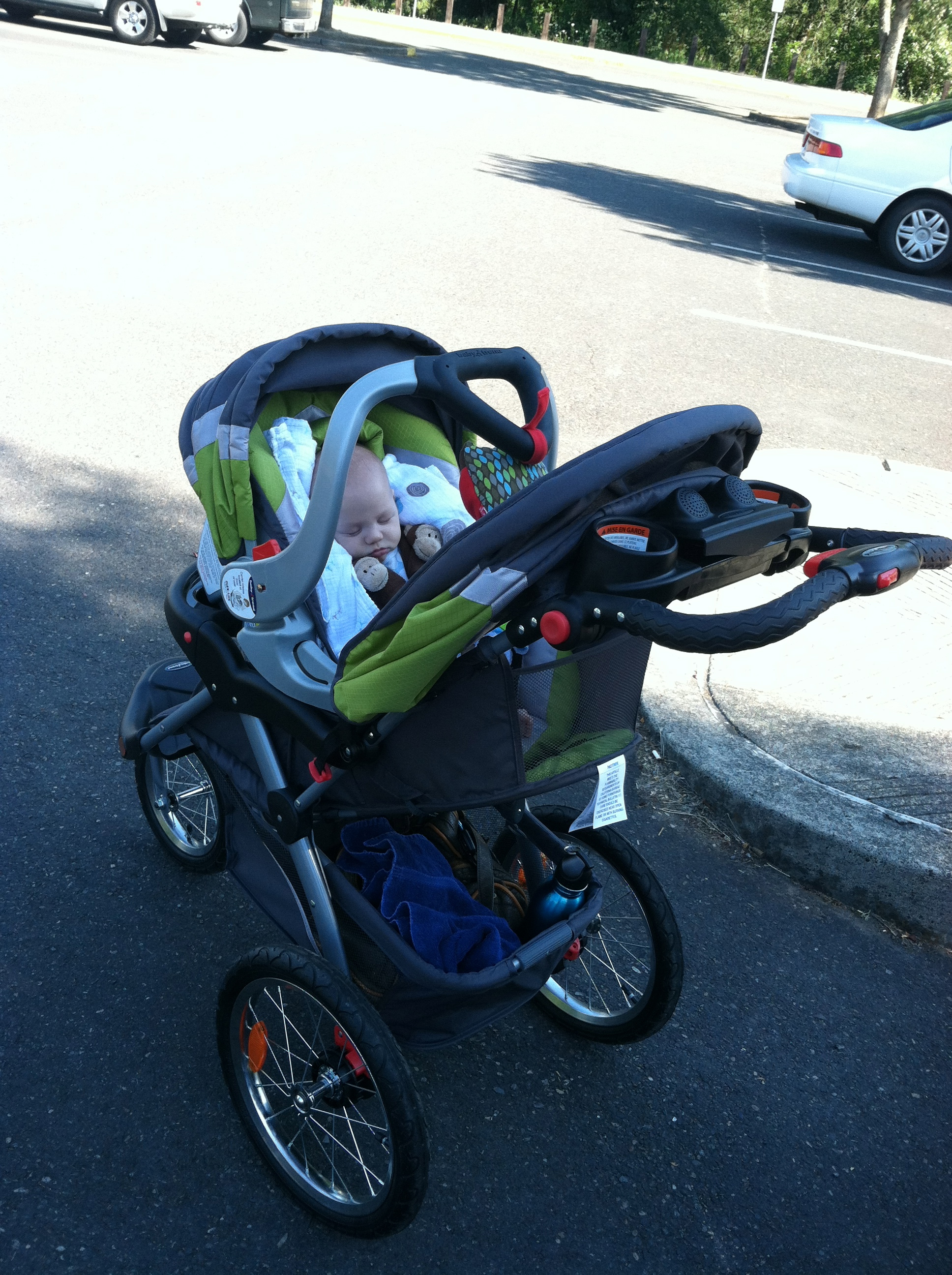 running with a jogging stroller - Fit Mama Real Food
