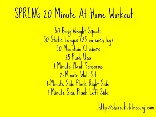 Spring-Workout