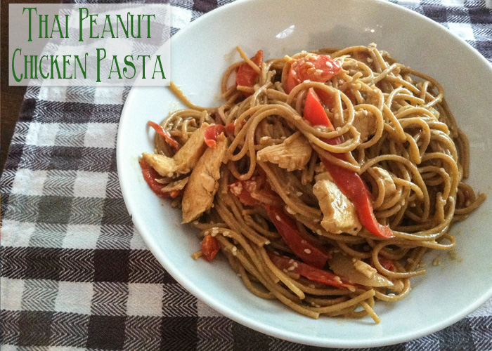 Chicken Peanut Thai Noodles Recipe — Dishmaps