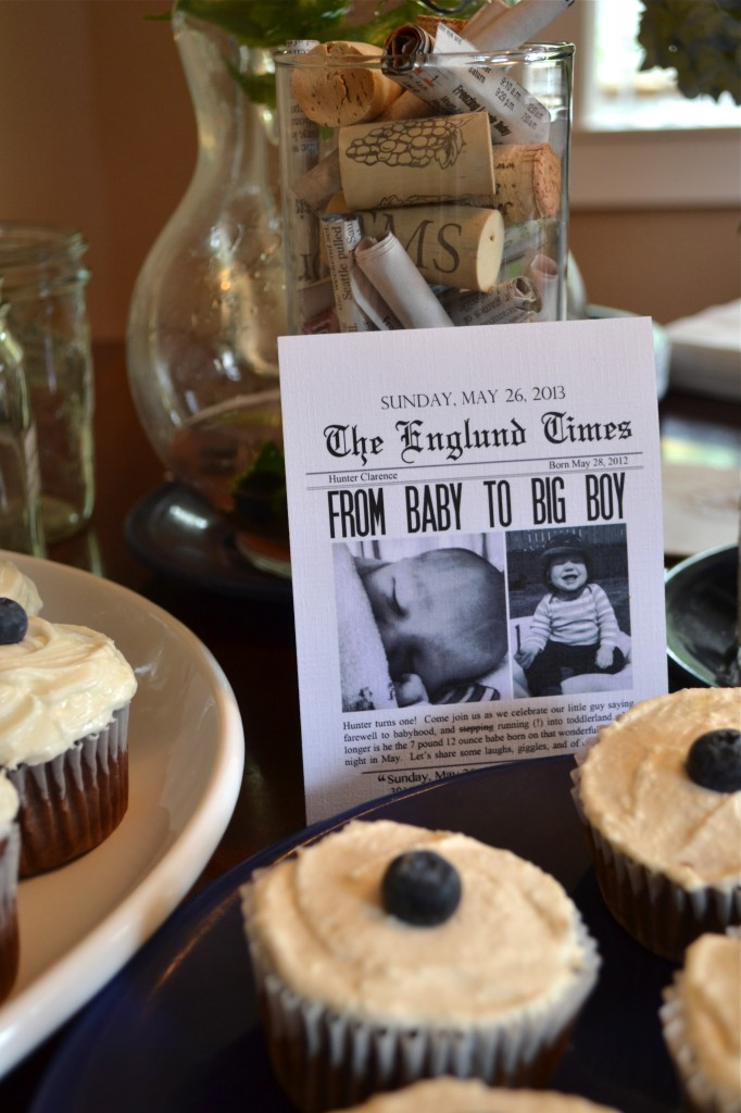 Hunter S 1st Birthday Party Vintage Newspaper Theme Fit