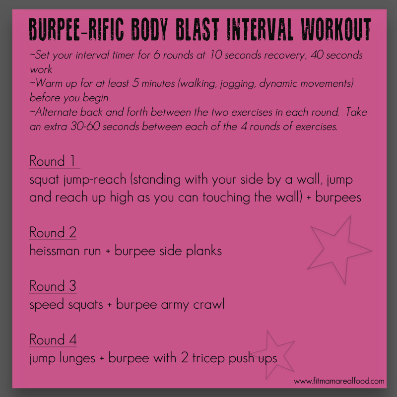 burpree body blast interval workout