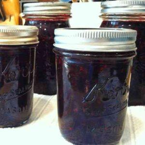low sugar blackberry jam canned
