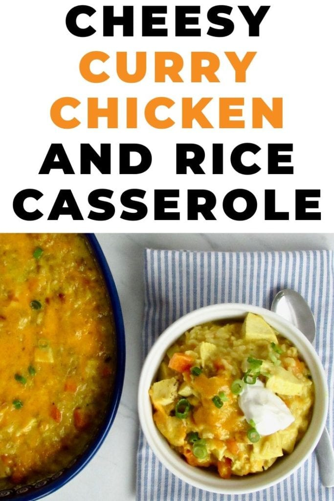 cheesy curry chicken and rice casserole