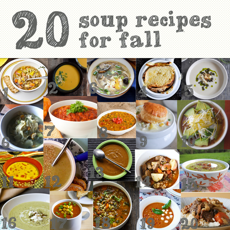 20souprecipesforfall