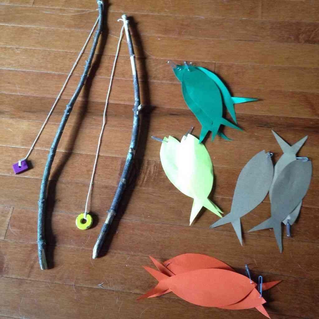 DIY magnet fishing set for toddlers/kids