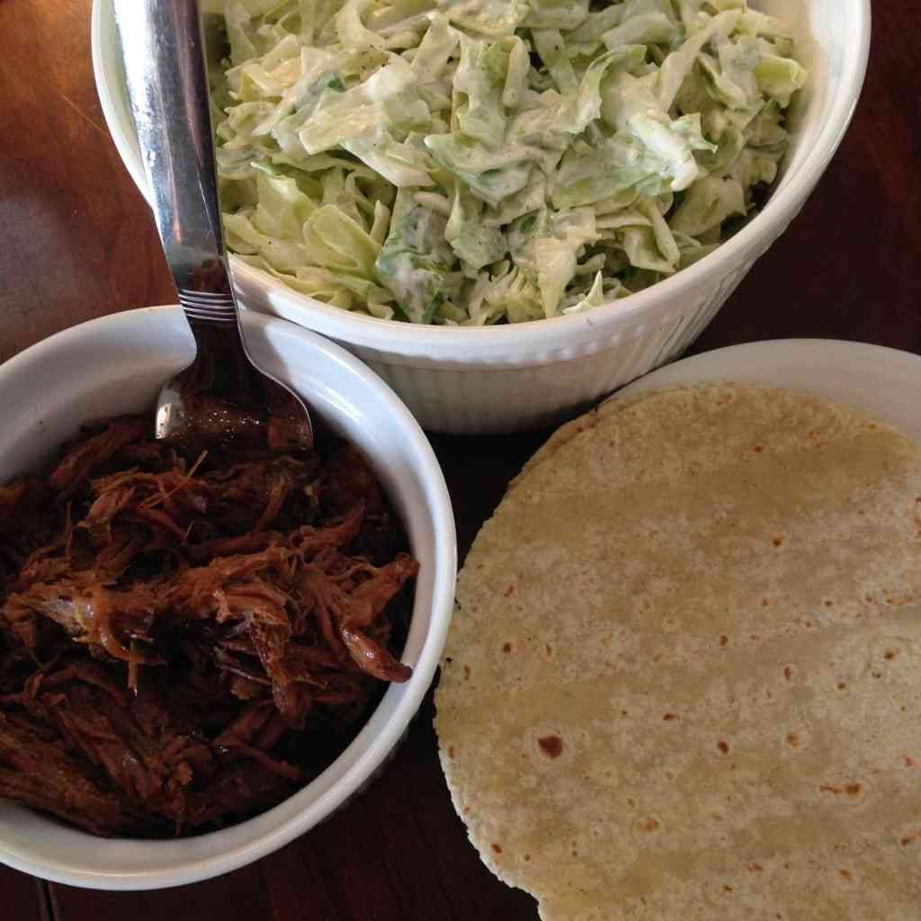 crockpot hawaiian beef and cabbage tacos