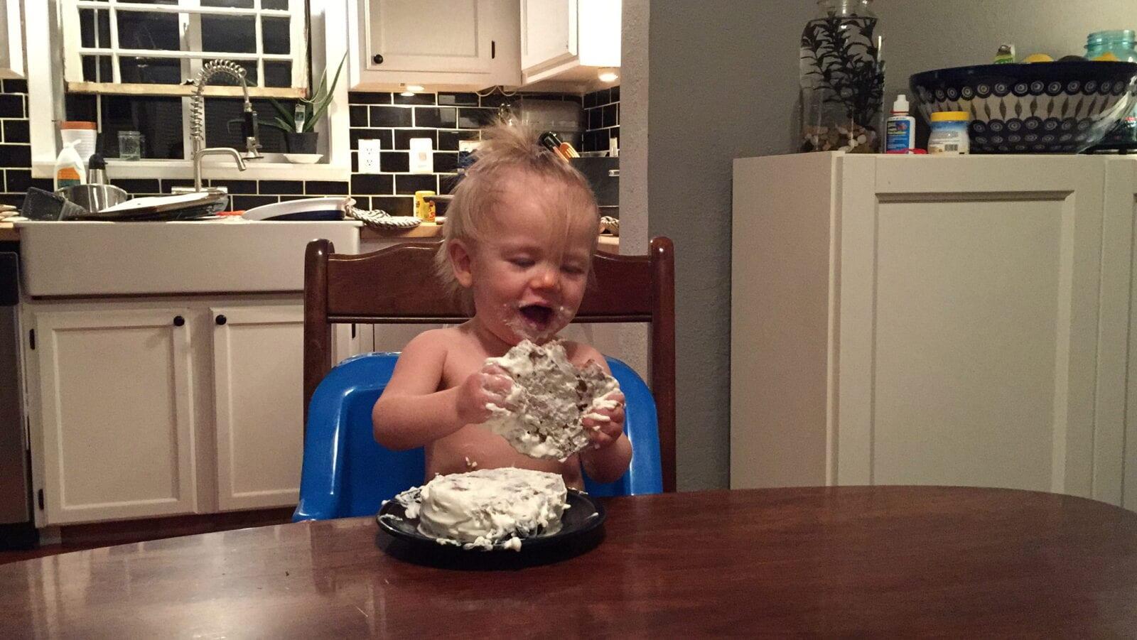 No sugar added birthday smash cake