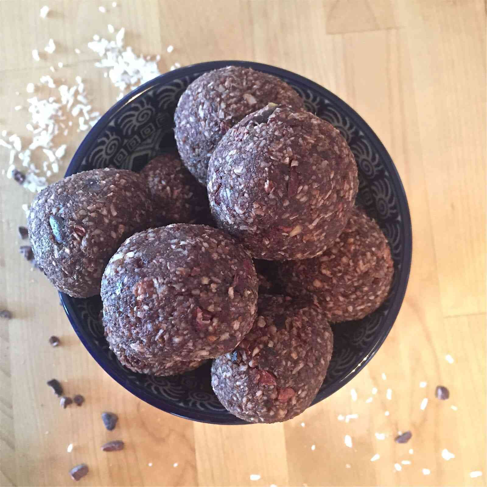 nutty cacao coconut energy balls
