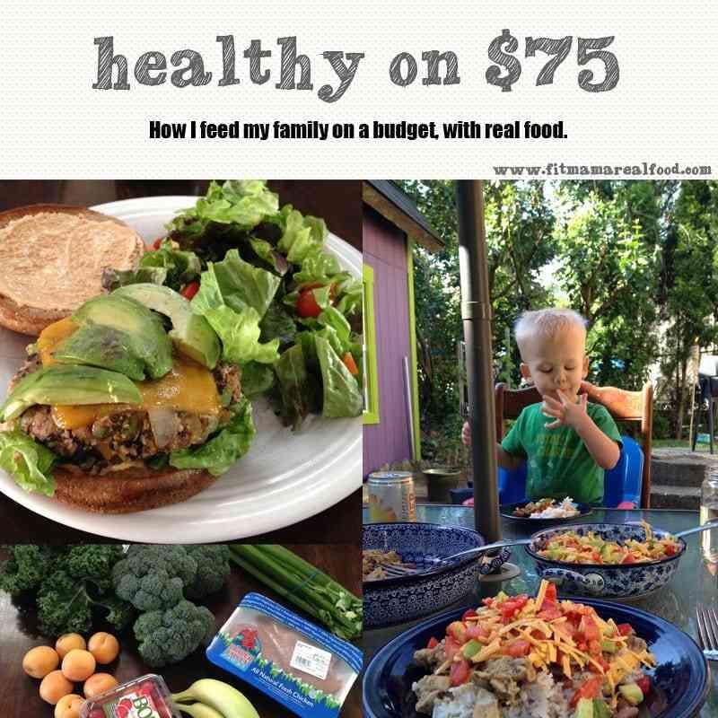 healthy on $75: week 2 grocery haul breakdown + meal plan