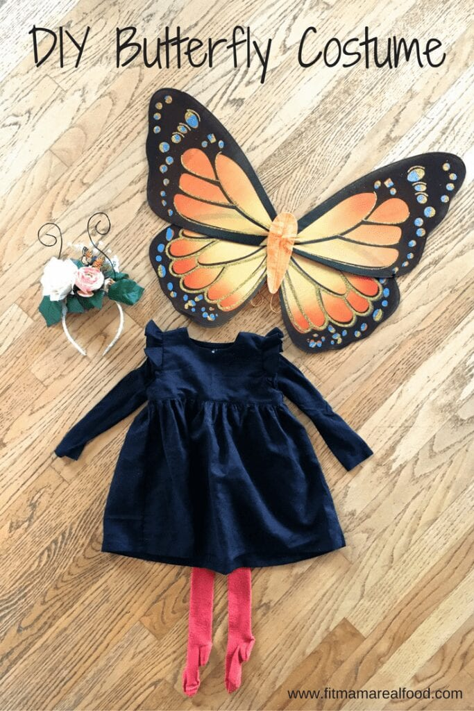 DIY orange butterfly costume