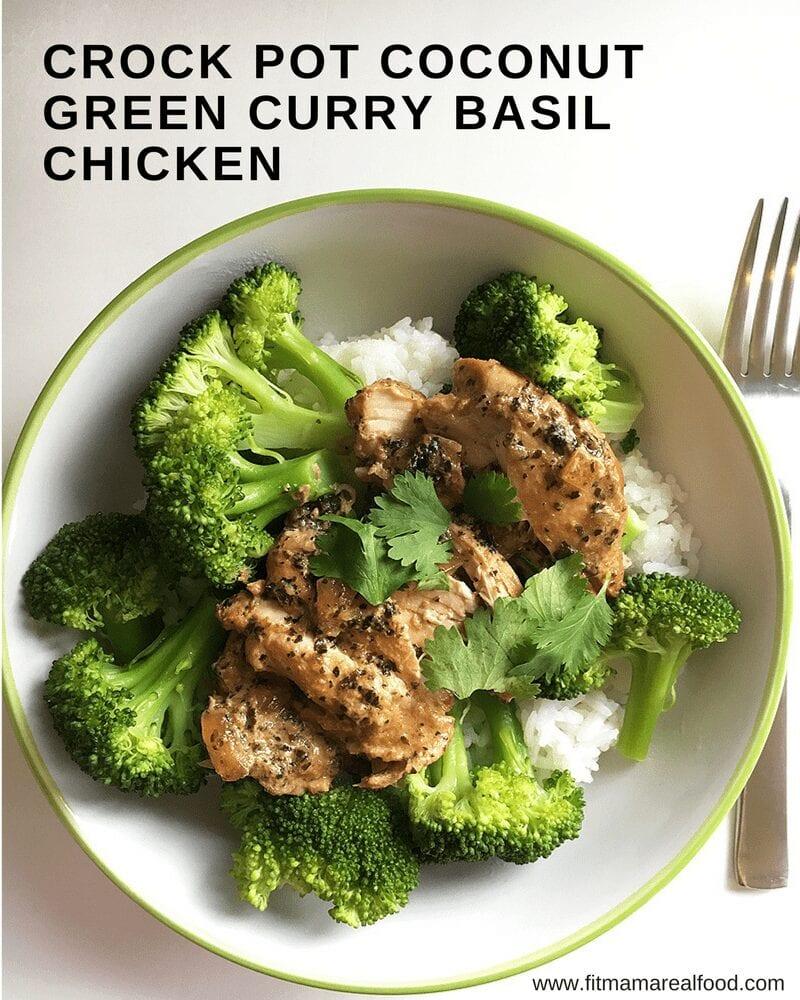 Crock Pot Coconut Green Curry Basil Chicken