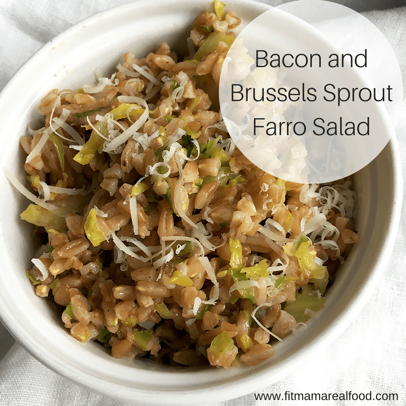 bacon and brussels sprout farro salad