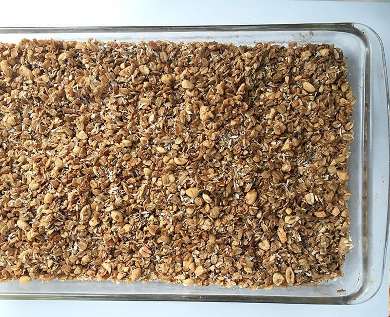 maple coconut peanut crunch granola
