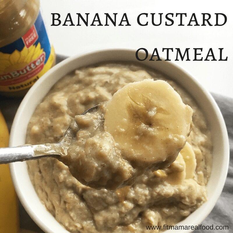 banana custard oatmeal