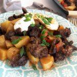 sheet pan chorizo breakfast hash