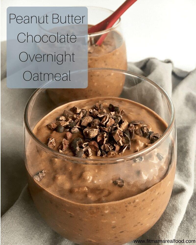 peanut butter chocolate overnight oatmeal