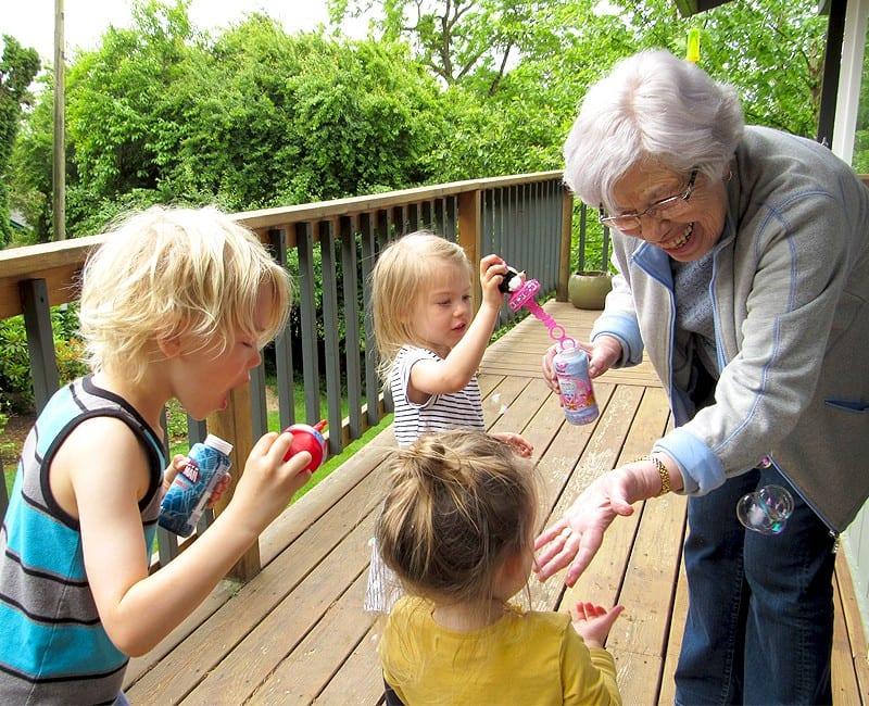 bubbles with grandma