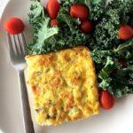 smoked salmon and cauliflower egg puff