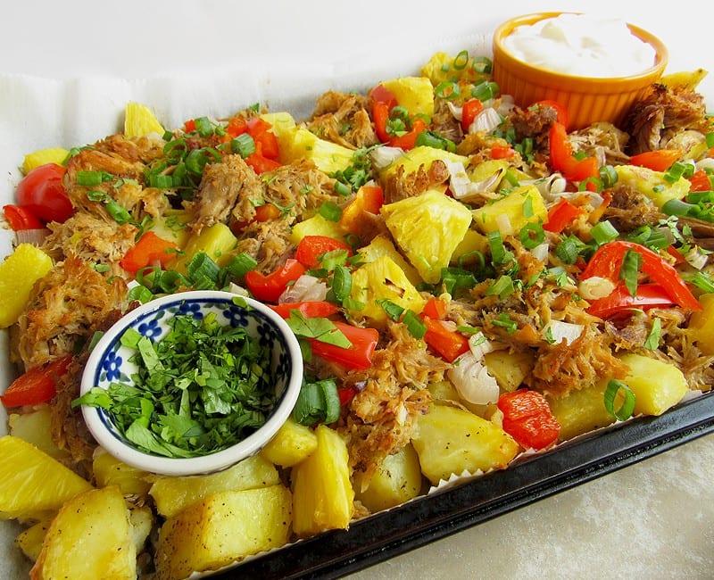 Pineapple Pork and Potato Sheet Pan Dinner