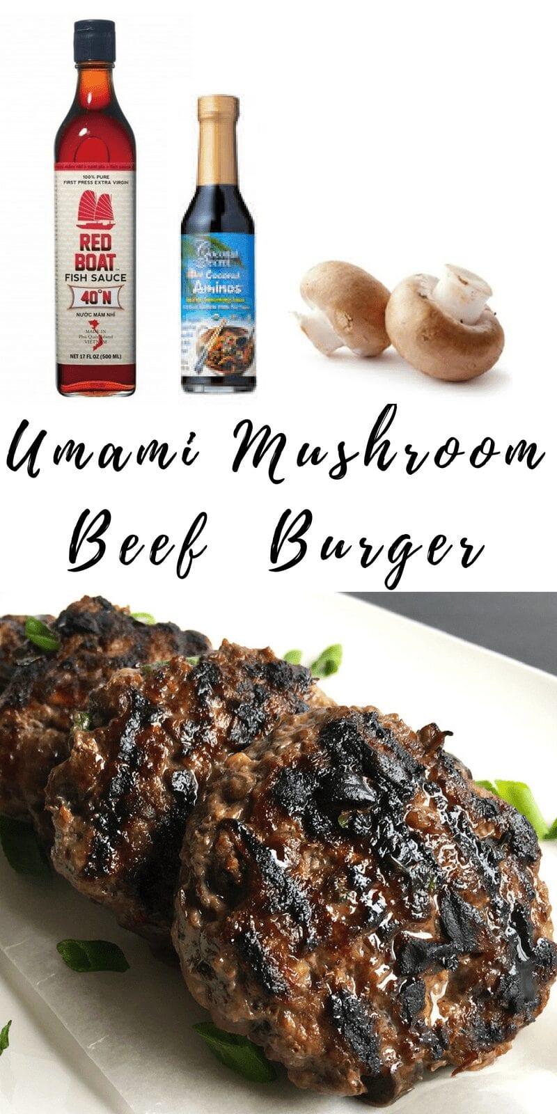Umami Mushroom Beef Burger