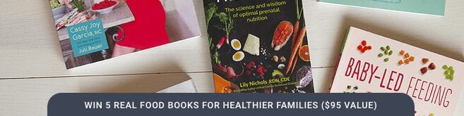 5 real food books for healthier families giveaway