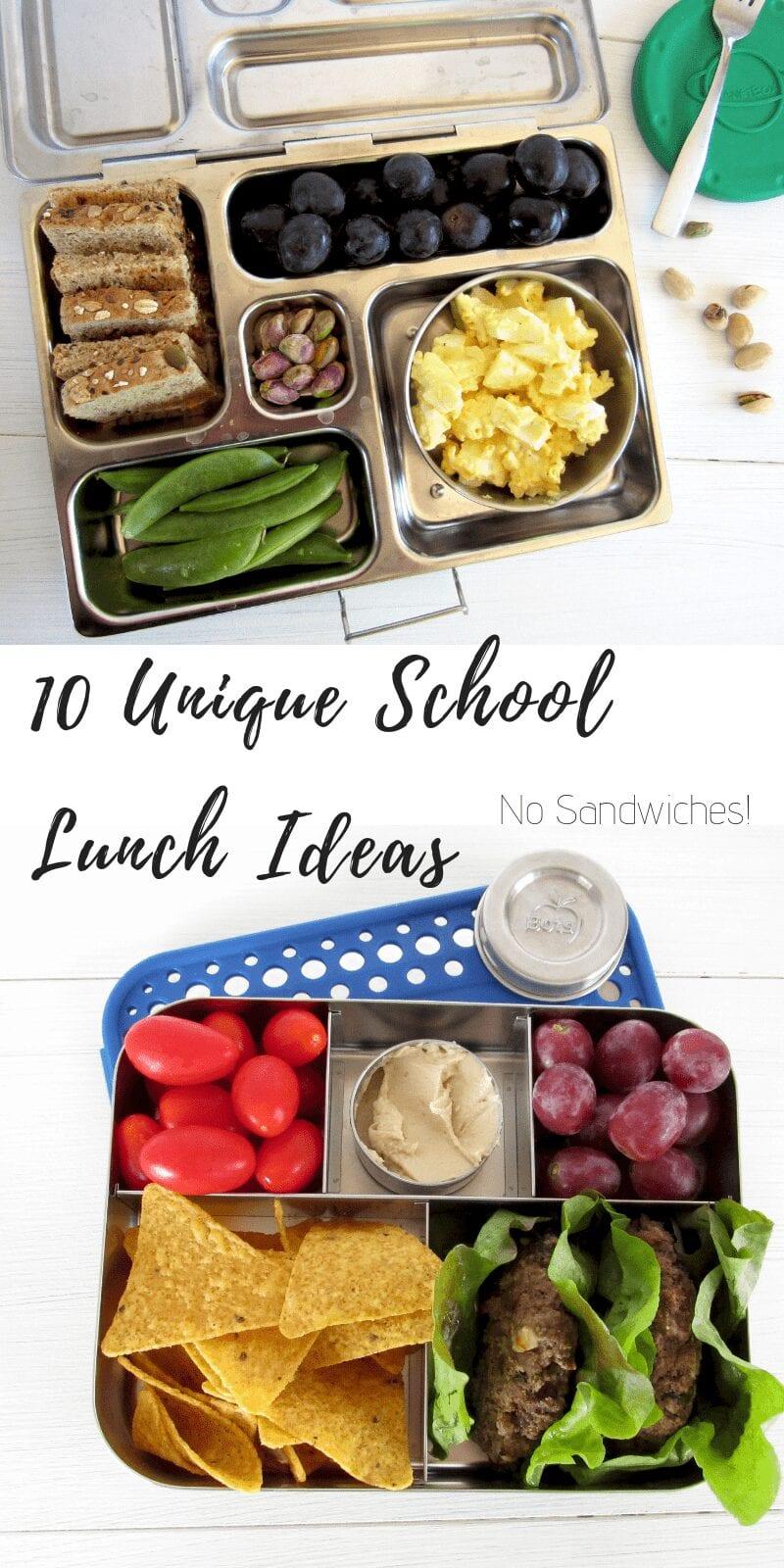 10 unique school lunch ideas no sandwiches #lunchbox #schoollunch #kidfood