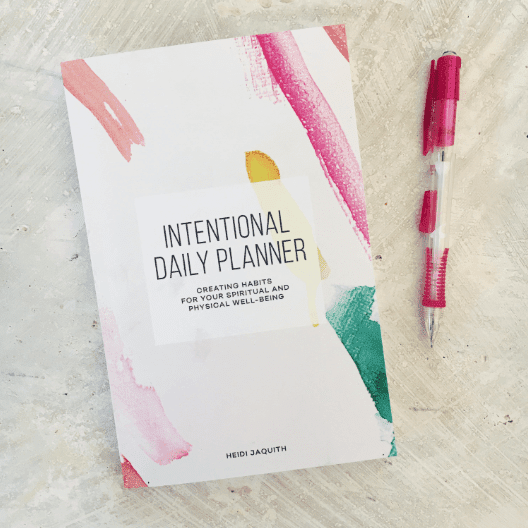 the intentional planner giveaway!