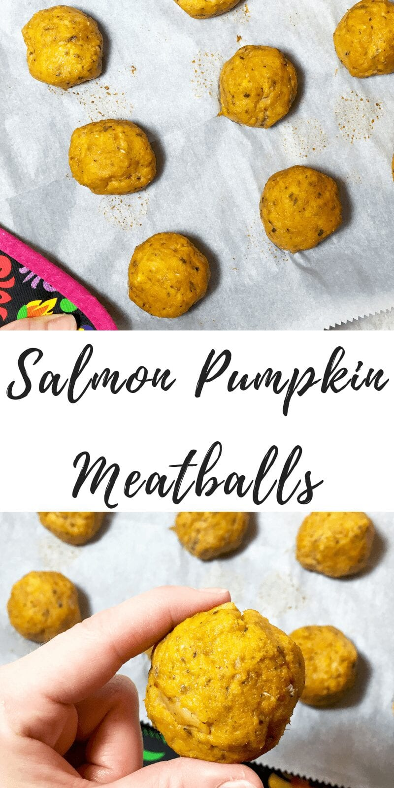 Salmon pumpkin meatballs