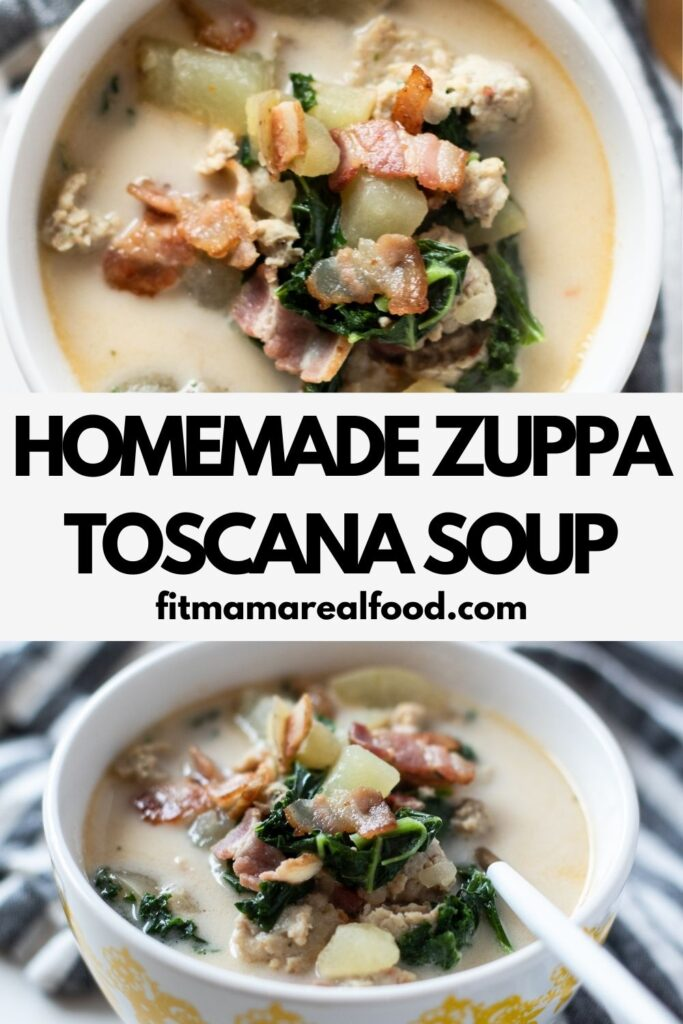 Homemade Dairy Free Zuppa Toscana Soup