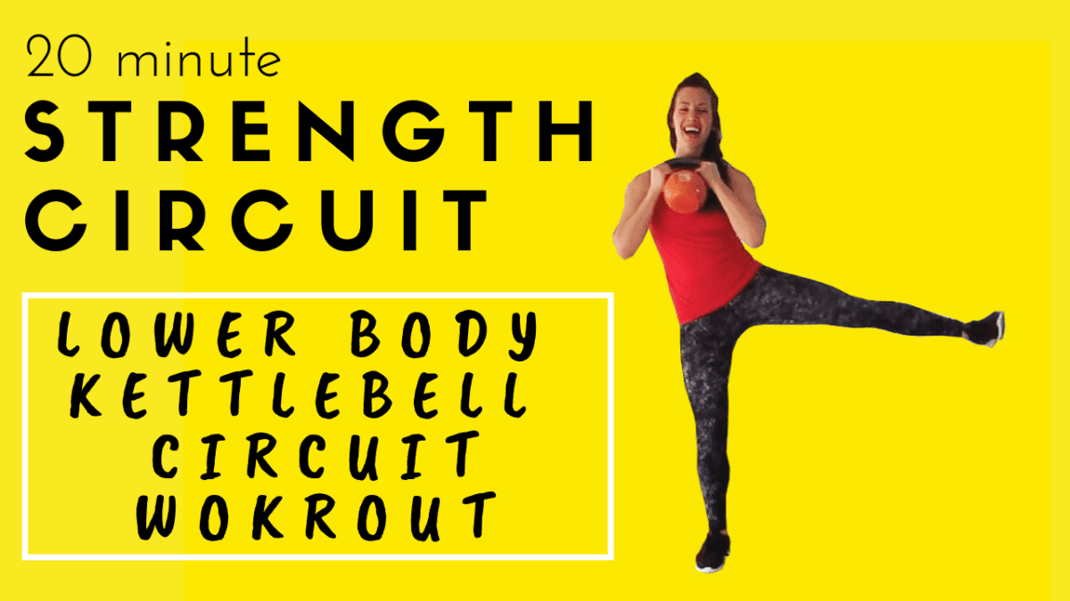 20 minute lower body kettlebell strength circuit workout video