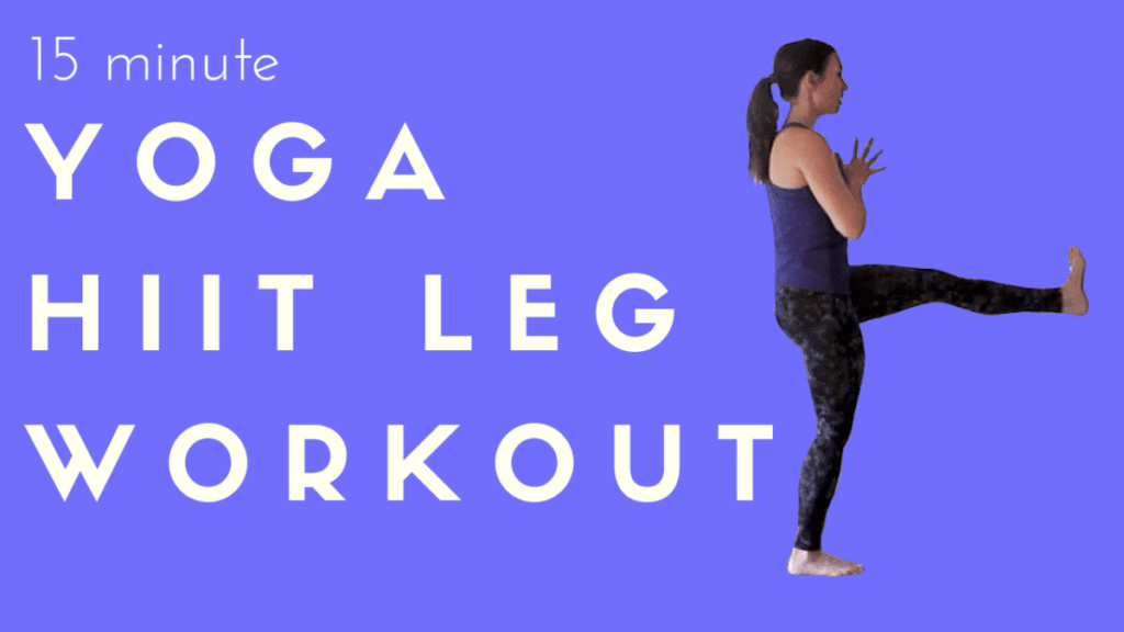 15 minute yoga HIIT leg fitness yoga cardio workout