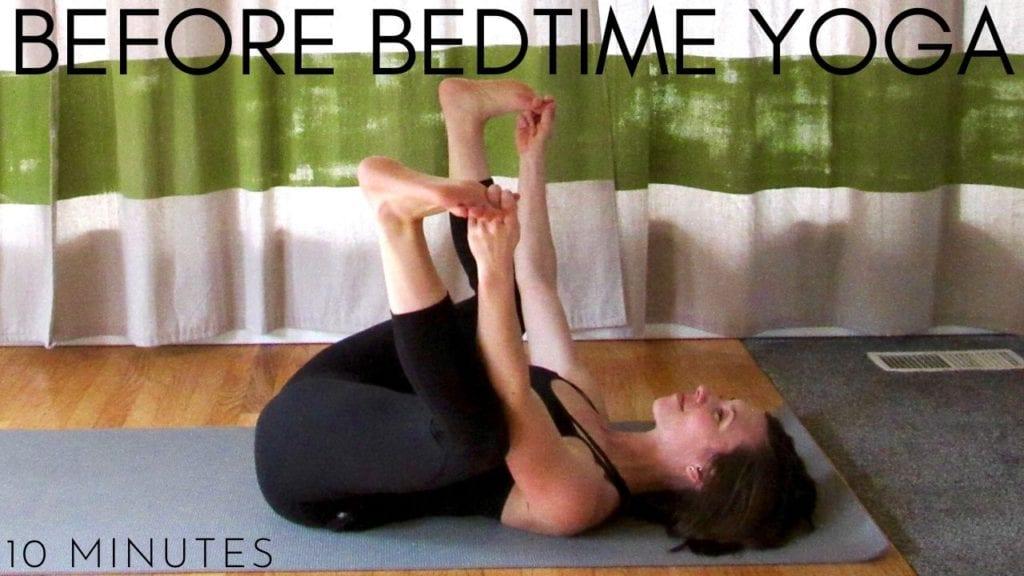 10 minute before bedtime yoga