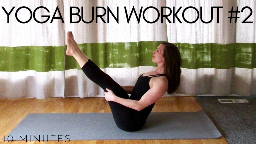 10 minute yoga burn workout #2 video
