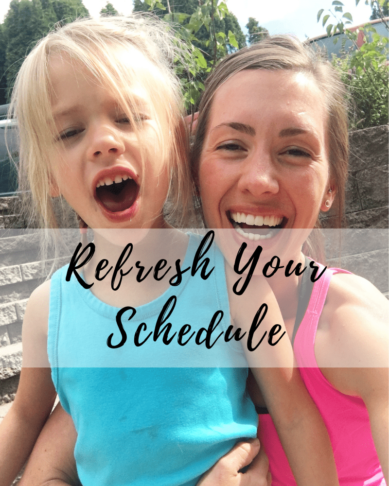 Refresh your schedule | fit mama real food radio $89