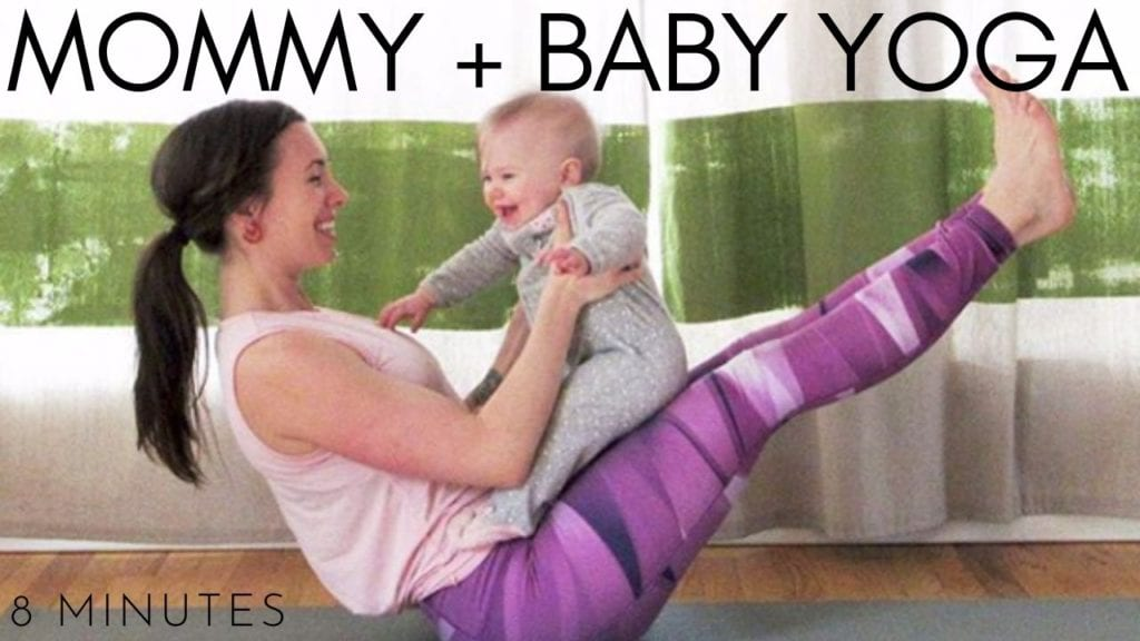 8 Minute Mommy + Baby Yoga Workout Video