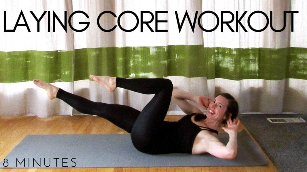 8 minute fitness yoga laying core workout video