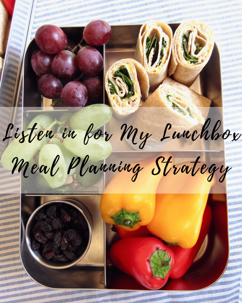 Listen in for my lunchbox meal planning strategy | #91 Fit Mama Real Food Radio