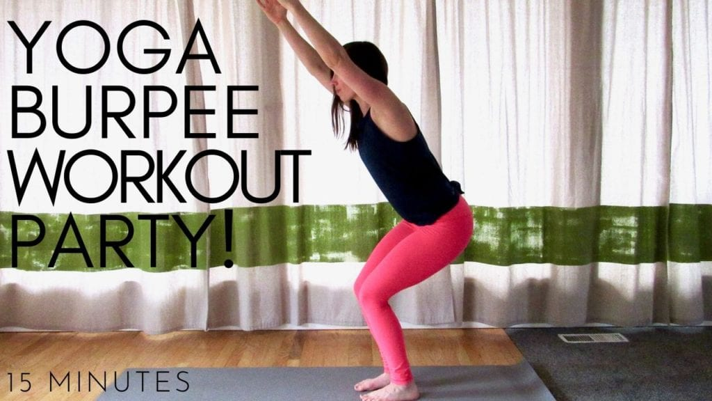 15 minute yoga burpee workout video party!
