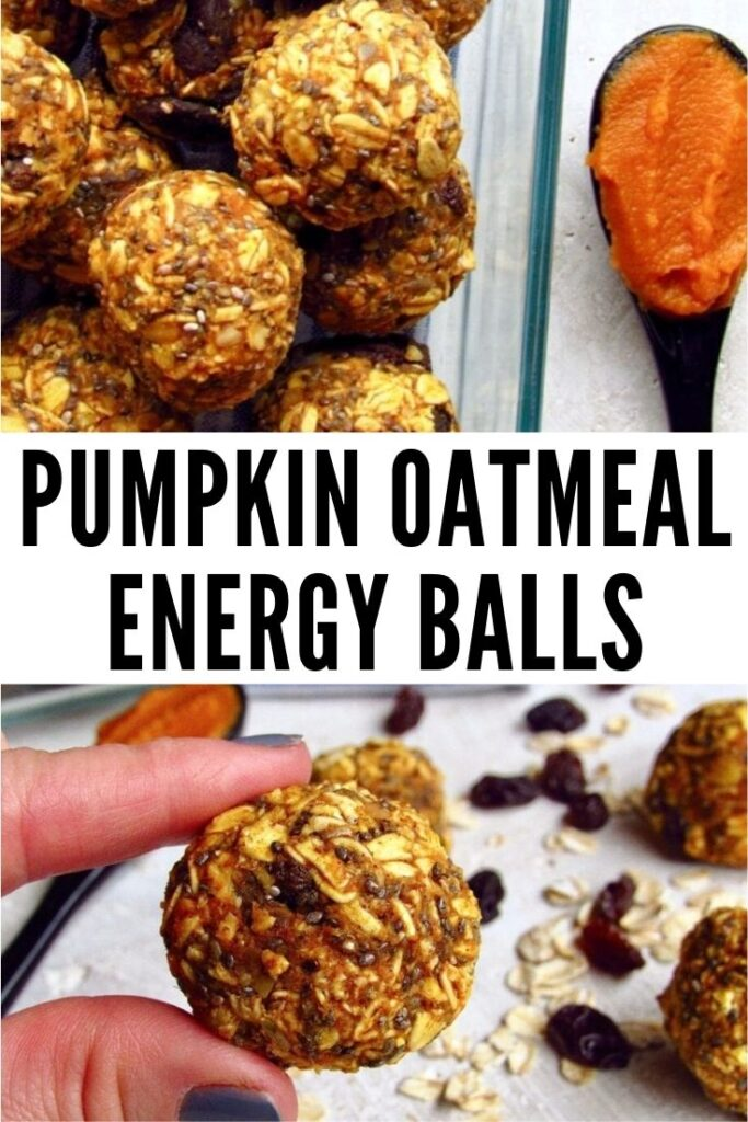 pumpkin oatmeal energy balls