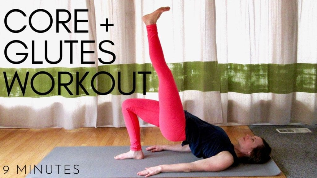quick core and glutes workout video