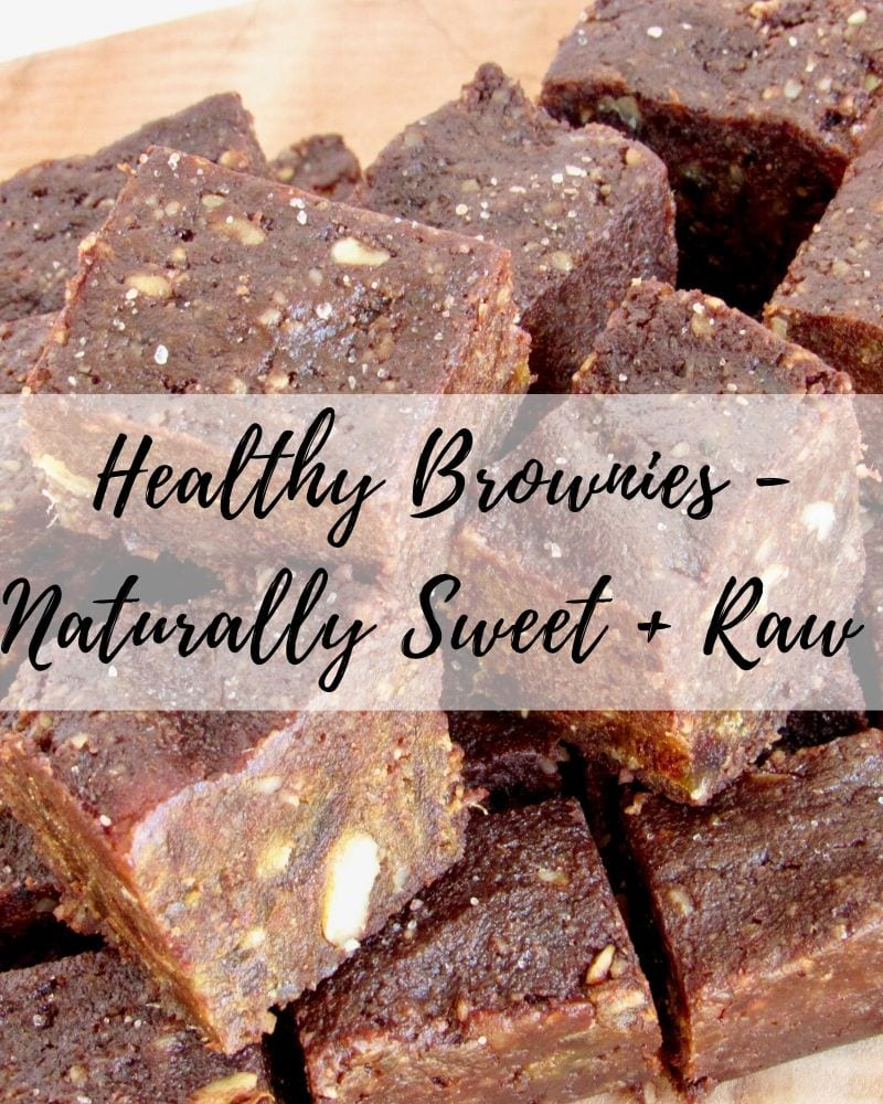 Healthy Brownies - Naturally Sweet, Raw No Bake Brownies Made with Just 3 Ingredients