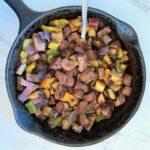 Steak Tips, Vegetable and Potato Hash