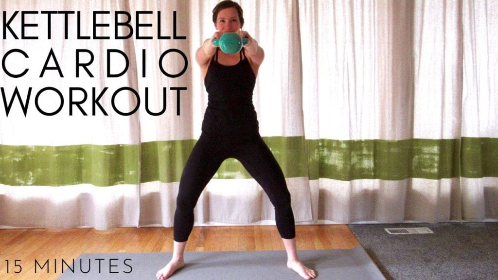 15 minute kettlebell cardio workout video